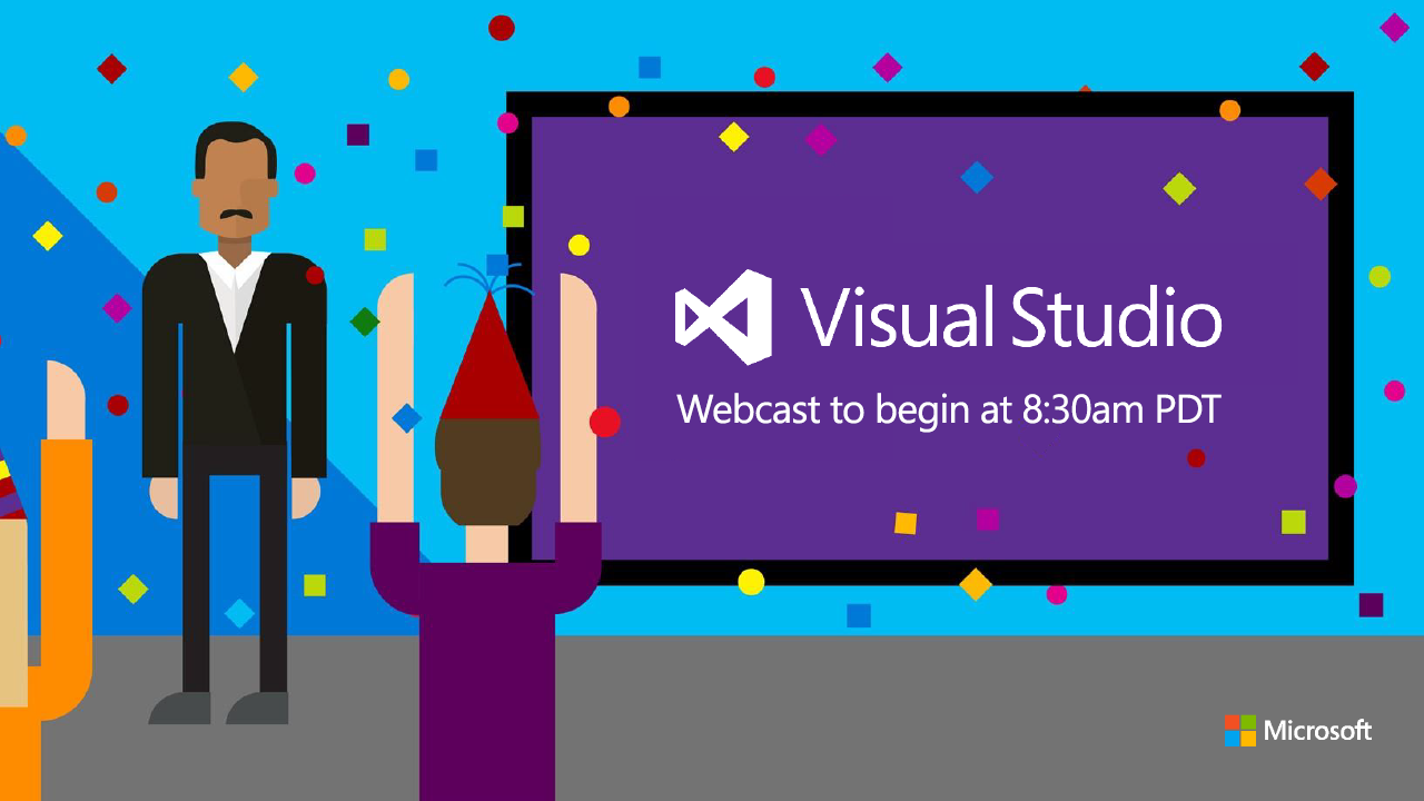 oggi dalle 17:30 c'è il lancio online di @VisualStudio 2015. seguitelo live qui: https://aspit.co/a51 #vs2015